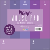 TF Publishing Shades of Violet Memo Mouse Pad