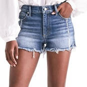 Lucky Brand High Rise Shortie Jean Shorts