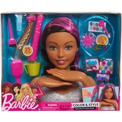 Just Play Barbie Color and Style Deluxe Styling Head