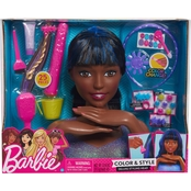 Just Play Barbie Color and Style Deluxe Styling Head, African-American