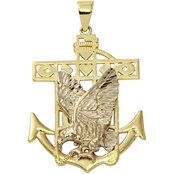 10K Gold Eagle And Anchor Charm