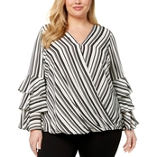 Alfani Plus Size Tiered Sleeve Top