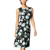 Charter Club Printed Fit & Flare Dress