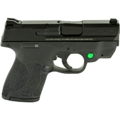 S&W Shield M2.0 9mm 3.1 in. Barrel 8 Rnd 2 Mag Pistol Black with Safety Green Laser