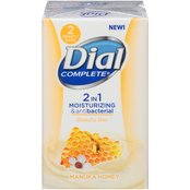 Dial Complete 2 in 1 Moisturizing and Antibacterial Manuka Honey Beauty Bar 2 pk.