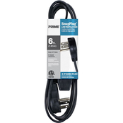 Prime Wire & Cable 6 ft. SnugPlug Grounded 3 Outlet Household Extension Cord