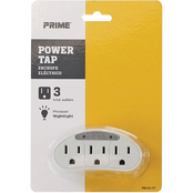 Prime Wire & Cable 3 Outlet Power Tap with Photocell Nightlight
