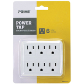 Prime Wire & Cable 6 Outlet Power Tap