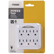 Prime Wire & Cable 6 Outlet Power Tap with Photocell Nightlight