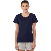 Champion Women's V-Neck Vapor Cotton Tee