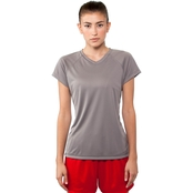 Champion Women's Essential Double Dry V-Neck Performance Tee