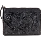 Patricia Nash Heritage Leather Cassini Wristlet