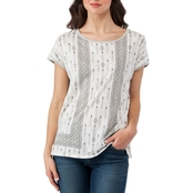 Vince Camuto Diamond Geo Mix Media Tee