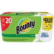 Bounty Full Sheet White Paper Towels Huge Roll 8 pk.