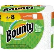 Bounty Big Roll Full Sheet White Paper Towels, 6 Pk.