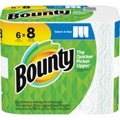 Bounty Big Roll Select-A-Size White Paper Towels, 6 Pk.