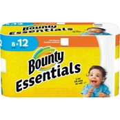 Bounty Essentials Giant Roll Full Sheet White Paper Towels, 8 Pk.