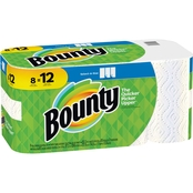 Bounty Giant Roll Select-A-Size White Paper Towels, 8 Pk.