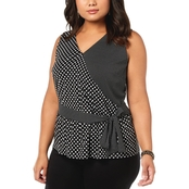 I.N.C. International Concepts Plus Size Sleeveless Ruffled Top