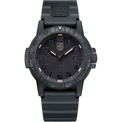 Luminox Men's Sea Turtle Blackout Swiss Quartz Rubber Bracelet Watch 0321.BO