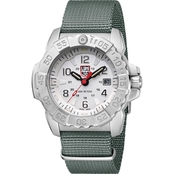 Luminox Men's Navy SEAL Swiss Quartz Date Nylon Strap Watch 3257LUM