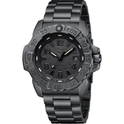 Luminox Men's Navy SEAL Blackout Swiss Quartz Date Stainless Bracelet Watch 3252.BO