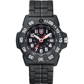 Luminox Men's Navy SEAL Trident Swiss Quartz Black Carbon Bracelet Watch 3502