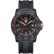 Luminox Men's Black OPS Swiss Quartz Date Rubber Strap Watch 8895