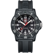 Luminox Men's Black OPS Swiss Quartz Date Rubber Strap Watch 8881
