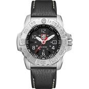 Luminox Men's Navy SEAL Swiss Quartz Date Leather Strap Watch 3251LUM