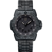 Luminox Men's Navy SEAL Trident Swiss Quartz Black Carbon Bracelet Watch 3502.BO