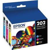 Epson T202 Claria Standard Capacity Color Multi Pack Ink Cartridge