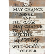 Uniformed Army The Soil May Change 12 x 18 Sign