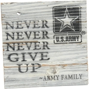 Uniformed Army Never Never 8 x 8 in. Wood Sign