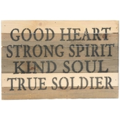 Uniformed Army True Soldier 12 x 8 Sign