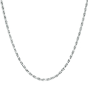 Sterling Silver 080 Rope Necklace 22 in.