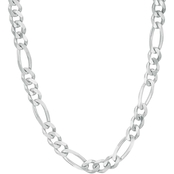 Sterling Silver 200 Gauge Figaro Chain Necklace 22 in.