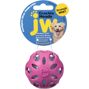 Petmate JW Pet Crackle Heads Crackle Ball Dog Toy, Small
