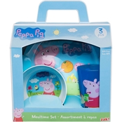 Zak Peppa Pig 3 pc. Mealtime Set