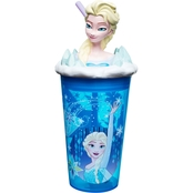Zak Disney Frozen Plastic Funtastic Tumbler with Straw, Elsa