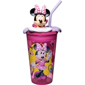 Zak Minnie Mouse Plastic Funtastic Tumbler with Straw