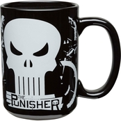 Zak Marvel Comics Large Ceramic Coffee Mug, Punisher