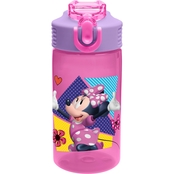 Zak Minnie Mouse 16 oz. Water Bottle for Kids, Daisy Duck & Minnie Mouse