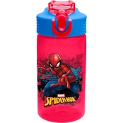 Zak Marvel Comics BPA Free 16 oz. Water Bottle for Kids, Spider-Man
