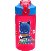 Zak PJ Masks BPA Free 16 oz. Water Bottle for Kids, Gekko, Owlette & Catboy