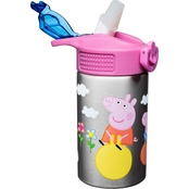 Zak Peppa Pig Insulated Stainless Steel Bottle for Kids, 15.5 oz.