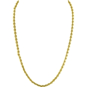 Robert Manse Designs 23K 2 Thai Baht Yellow Gold 24 in. Puff Anchor Link Chain