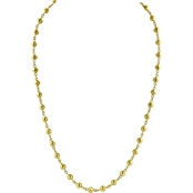 Robert Manse Designs 23K 1 Thai Baht Yellow Gold 17.5 in. Rosary Bead Necklace
