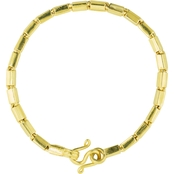 Robert Manse Designs 23K 1 Thai Baht Yellow Gold 7.25 in. Bar Link Bracelet