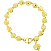 Robert Manse Designs 23K 1 Thai Baht Yellow Gold 7.25 in. Beaded Chain Bracelet